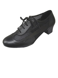 Women's Real Leather Heels Pumps Ballroom Practice With Hollow-out Dance Shoes (053013133)