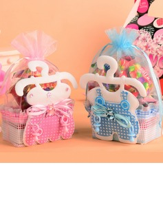 Baby Dress Design Basket Favor Bags With Ribbons (Set of 12) (050054571)