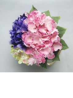 Colorful Round Satin/Cotton Bridesmaid Bouquets (123031447)