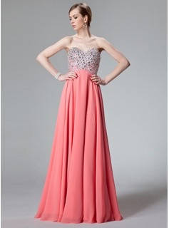 Prom Dresses A-Line/Princess Sweetheart Floor-Length Chiffon Prom Dress With Beading Sequins (018012850)