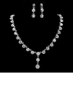 Elegant Alloy With Rhinestone Women's Jewelry Sets (011019309)