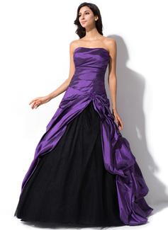 Duchesse-Linie Schatz Sweep/Pinsel zug Taft Tüll Quinceañera Kleid (Kleid für die Geburtstagsfeier) mit Rüschen Perlstickerei Pailletten (021055195)