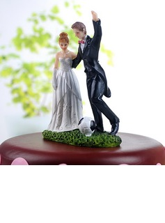 Sports Couple Resin Wedding Cake Topper (122036155)
