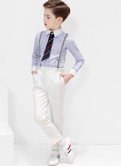 Boys 4 stycken Klassisk Stil Passar till ringbärare /Page Boy Suits med Skjorta Byxor Slips Strumpeband (287204954)