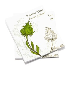 Personalized Flower Design Paper Thank You Cards (Set of 50) (118032204)