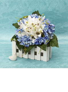 Cute Free-Form Satin Bridal Bouquets - (124032041)