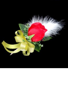 Gorgeous Free-Form Satin/Cotton Boutonniere (123031457)