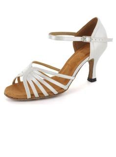 Frauen Satin Heels Sandalen Latin mit Schnalle Tanzschuhe (053021870)