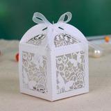 Schmetterling Laser-Cut Quader Geschenkboxen mit Bänder (Satz von 12) (050026815)
