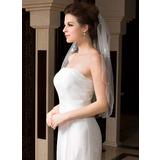 Einschichtig Ellenbogen Braut Schleier mit Perlenbesetzter Saum (006036605)