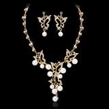 En forme de papillon Alliage/Pearl avec Cristal Dames Parures (011027559)