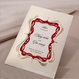 Personlig Tappning Färg Wrap & Pocket Invitation Cards (Sats om 50) (114031406)