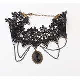 Vintage Alloy Lace Women's Necklaces (011035180)