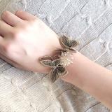 Delicate Hand-tied Rhinestone Wrist Corsage - (123205640)