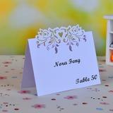 Fliegendes Herz Perlen-Papier Tischkarten (Satz von 12) (050040117)