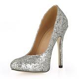 Kvinnor Glittrande Glitter Stilettklack Stängt Toe Pumps med Paljetter (047015207)