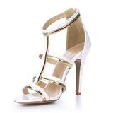 Patenteret Læder sandaler Pumps Kigge Tå sko (087051706)