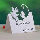 Engel und Herz Perlen-Papier Tischkarten (Satz von 12) (131037437)