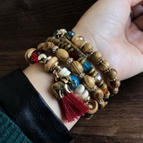 Exquisite Alloy Wood Acrylic With Tassels Unisex Fashion Bracelets (Sold in a single piece) (137193019)