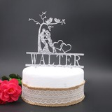 Personalized Kissing Couple Acrylic Cake Topper (119187778)