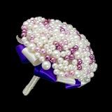 Ins Auge Fallend Rund Venezianischen Perle/Nachahmungen von Perlen Brautsträuße - (123040051)