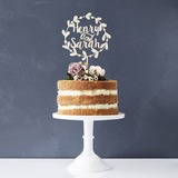 Personalizado La novia y del novio Acrílico/Madera Decoración de tortas (119187768)