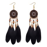 Unique Alloy Feather Women's Fashion Earrings (137190488)