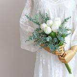 Free-Form Silk/Cloth Bridesmaid Bouquets - (123201761)