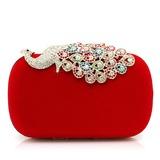 Prächtig Samt mit Strass/Tier Handtaschen (012052542)