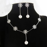 Elegant Zircon/Imitation Pearls With Imitation Pearls Ladies' Jewelry Sets (011197469)