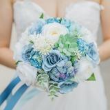 Charme Satiné/Tissu Bouquets de mariée - (123177936)