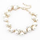 Unique Alloy Imitation Pearls With Rhinestone Ladies' Fashion Bracelets (011053750)