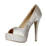 Vrouwen Satijn Stiletto Heel Peep Toe Plateau Sandalen met Strass (047026585)