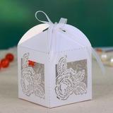 Zarte Laser Cut Geschenkboxen mit Bänder (Satz von 12) (050057676)