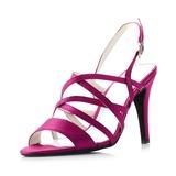 Vrouwen Zijde Stiletto Heel Peep Toe Sandalen (047039771)