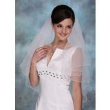 Einschichtig Ellenbogen Braut Schleier mit Wellenkante (006020350)
