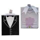 Bride & Groom Jeune mariée et Marié Carte papier Cadres photo (Vendu dans une seule pièce) (051193815)