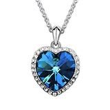 Herzförmige Legierung mit Kristall Frauen Halsketten (012036278)