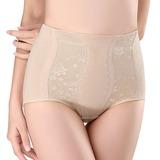 Femmes Sexy Coton Respirabilité Taille haute Culottes avec Jacquard Corsets (125185824)