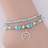 Starfish Alloy Imitation Turquoise Beads Women's (Sold in a single piece) (137197212)