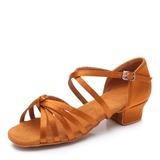 Kinder Satin Flache Schuhe Latin Swing Tanzschuhe (053201904)