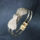Des Bowknot Kupfer mit Strass Damen Armbänder (011052749)
