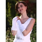 Satin Elbow Length Bridal Gloves (014013119)