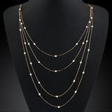 Schöne Legierung mit Nachahmungen von Perlen Damen Mode-Halskette (137053823)