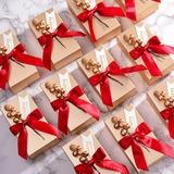 Klassiek Balk Kaart Papier Gunst dozen en containers met Linten (Set van 12) (050203419)