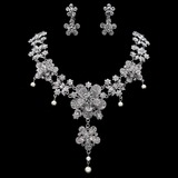Einzigartige Legierung/Strasssteine mit Perle Damen Schmuck Sets (011019357)