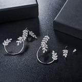 Leaves Shaped Zircon Copper With Zircon Women's Fashion Earrings (Sold in a single piece) (137199482)