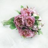 Besondere Rund Satin Brautjungfer Blumensträuße (124032117)