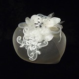 Elegant Net Yarn/Tulle Fascinators With Rhinestone/Venetian Pearl (042026077)