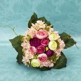 Gentil Rond Satiné Bouquets de mariée - (124032114)